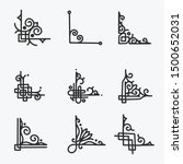 corner border hand drawn style | Shutterstock .eps vector #1500652031