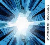 bottom view of modern... | Shutterstock . vector #150066071
