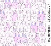 cute bunny seamless pattern... | Shutterstock .eps vector #1500661727