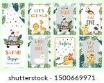 green gold collection of safari ... | Shutterstock .eps vector #1500669971