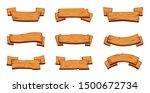 wooden banners. rustic... | Shutterstock .eps vector #1500672734