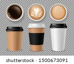 top view of coffee cup.... | Shutterstock .eps vector #1500673091
