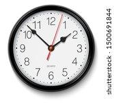 classic black round wall clock | Shutterstock . vector #1500691844