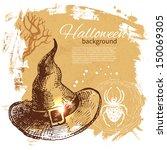 halloween background. hand...   Shutterstock .eps vector #150069305