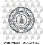 tombstone icon inside grey... | Shutterstock .eps vector #1500695267