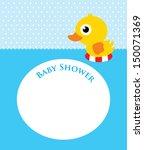 duck baby shower   Shutterstock .eps vector #150071369
