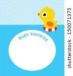 duck baby shower   Shutterstock .eps vector #150071375