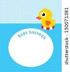 duck baby shower | Shutterstock .eps vector #150071381