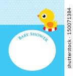 duck baby shower | Shutterstock .eps vector #150071384