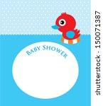 duck baby shower | Shutterstock .eps vector #150071387