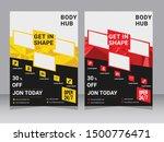yellow flyer design sports... | Shutterstock .eps vector #1500776471