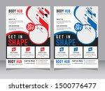 yellow flyer design sports... | Shutterstock .eps vector #1500776477