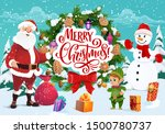 Merry Christmas Greeting  Sant...