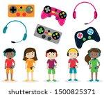 vector set of gamer themed...   Shutterstock .eps vector #1500825371