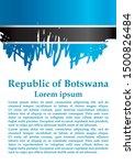 flag of botswana  republic of... | Shutterstock .eps vector #1500826484