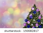christmas card with xmas tree... | Shutterstock . vector #150082817