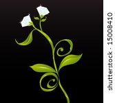 girls best friends  flowers and ... | Shutterstock .eps vector #15008410