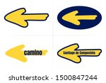 traditional camino yellow arrow ... | Shutterstock .eps vector #1500847244