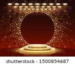 stage podium with lighting ...   Shutterstock .eps vector #1500854687