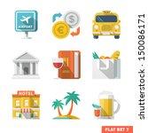 traveling flat icons 1
