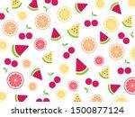 seamless cute tropical mix... | Shutterstock .eps vector #1500877124