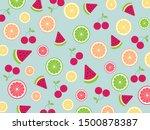 seamless cute tropical mix... | Shutterstock .eps vector #1500878387
