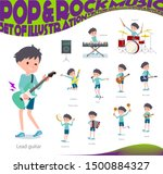a set of boy playing rock 'n'... | Shutterstock .eps vector #1500884327