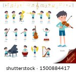 a set of boy on classical music ... | Shutterstock .eps vector #1500884417