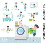 a set of boy related to... | Shutterstock .eps vector #1500884447