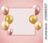 glossy happy birthday balloons... | Shutterstock .eps vector #1500885557