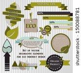 set of vector decorative... | Shutterstock .eps vector #150088781