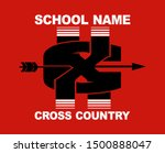 cross country team design with... | Shutterstock .eps vector #1500888047