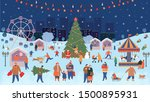 holiday fair  christmas in the... | Shutterstock .eps vector #1500895931