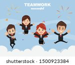 successful job concept with... | Shutterstock .eps vector #1500923384