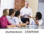 five businesspeople in... | Shutterstock . vector #15009304