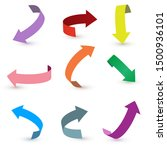 colorful ribbon arrow set....   Shutterstock .eps vector #1500936101