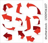 red ribbon arrow set. arrow... | Shutterstock .eps vector #1500936107
