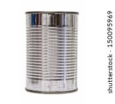 a silver tin can isolated on a... | Shutterstock . vector #150095969