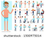 set of teen boy lifestyle... | Shutterstock .eps vector #1500975014