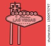 retro welcome to las vegas sign.... | Shutterstock .eps vector #1500975797