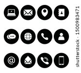 contact us icons. web icon.... | Shutterstock .eps vector #1500983471
