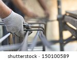 working on construction site  | Shutterstock . vector #150100589