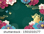2020 chinese new year  year of... | Shutterstock .eps vector #1501010177