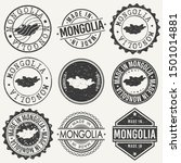 mongolia travel stamp made in... | Shutterstock .eps vector #1501014881