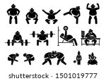 japanese sumo wrestler icons...