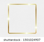gold shiny glowing frame with... | Shutterstock .eps vector #1501024907
