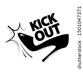 kick out. woman rejecting.... | Shutterstock .eps vector #1501047371