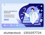 concept of a medical contract... | Shutterstock .eps vector #1501057724