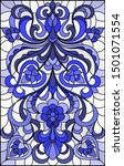 illustration in stained glass... | Shutterstock .eps vector #1501071554