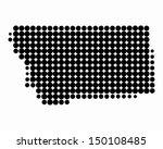 map of montana | Shutterstock .eps vector #150108485